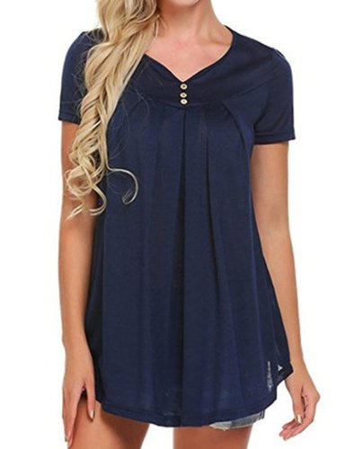 Short Sleeve Casual Casual Tops