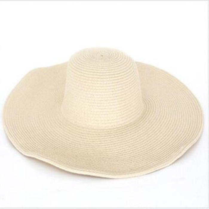 Seaside Sun Visor Hat Female Summer Sun Hats For Women large Brimmed Straw Sun Hat Folding Beach Girls