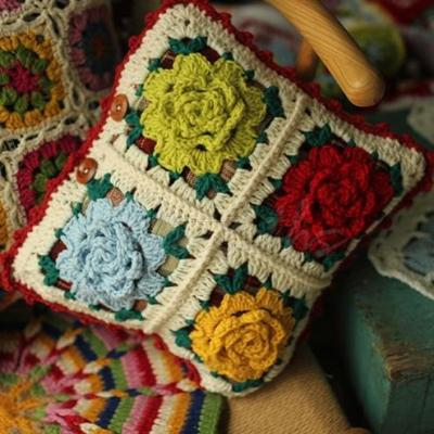 Handmade Hand Hook Stereo Flower Pillow Covers