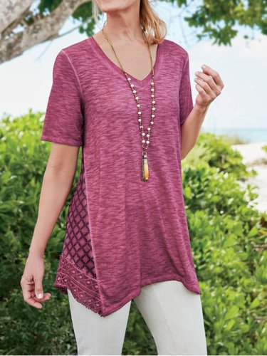 Women Relaxed Fit Loose Tops Tee Tunic T Shirt