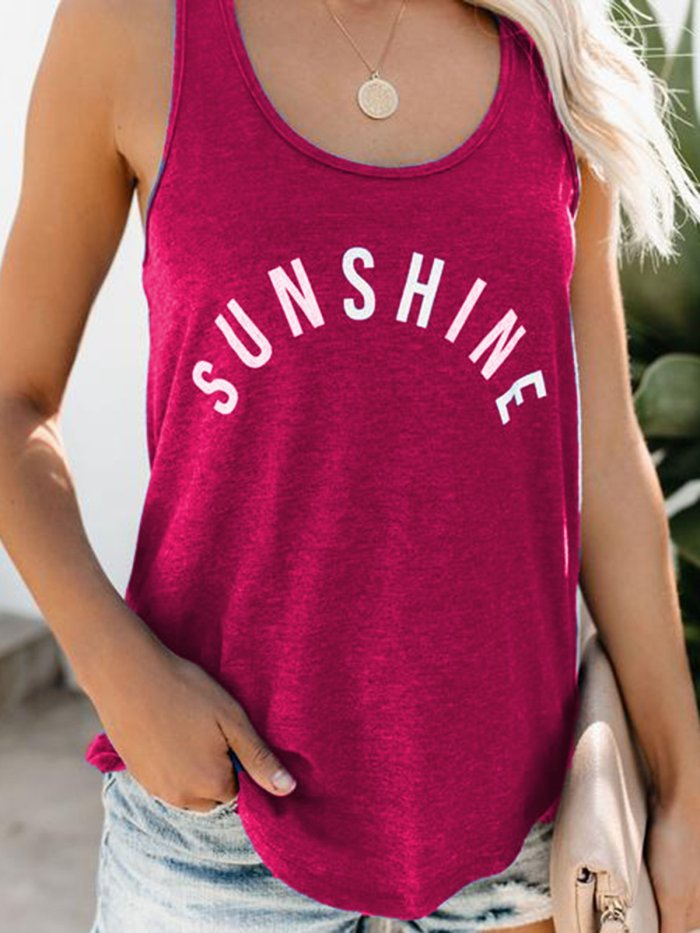 Sleeveless Round Neck Shirts & Tops