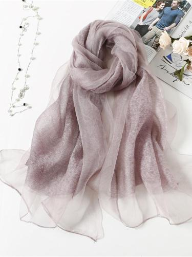 Silk wool scarves soft shawl
