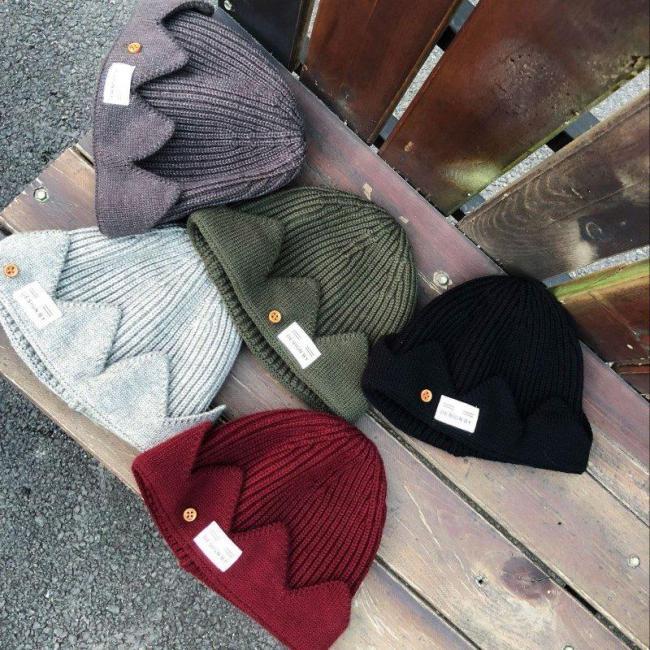 Hat Crown Knitted Cap Men Women