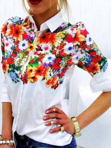 Stylish Butterfly Floral Elegant Tender Women's Gorgeous Shirts