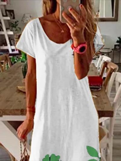 White Shift Casual Dresses
