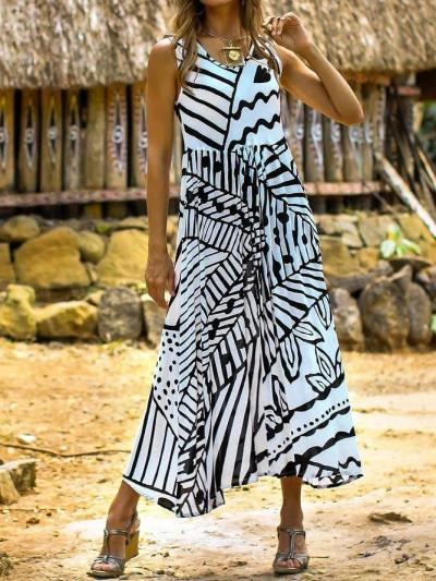Summer Sleeveless Maxi Dress Plus Size Dresses