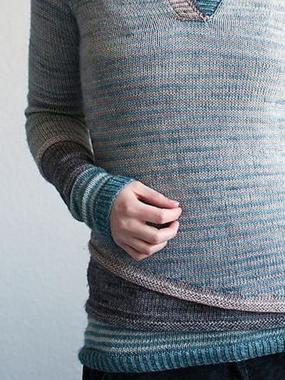 Striped Wool Blend Casual Women's Sweaters