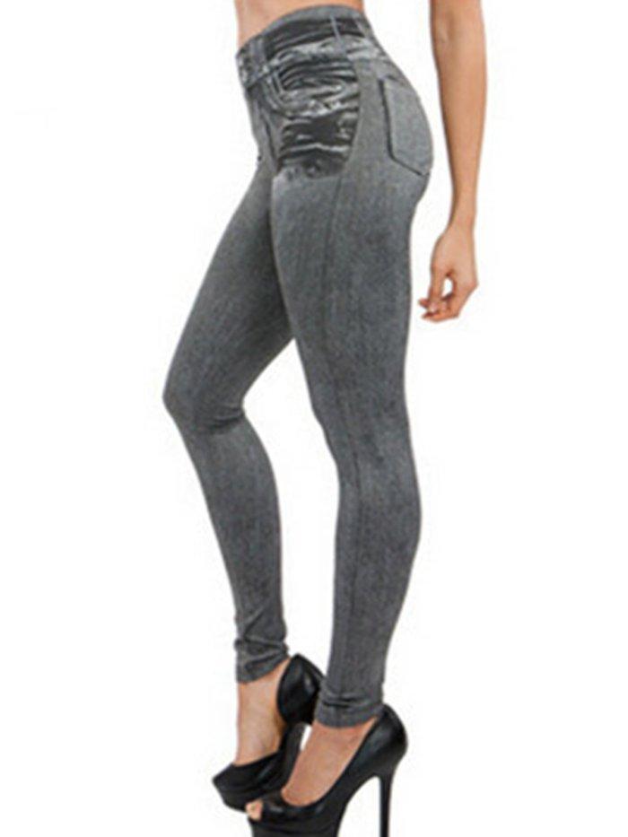 Sexy Plain Faux Demin Plus Size Pants