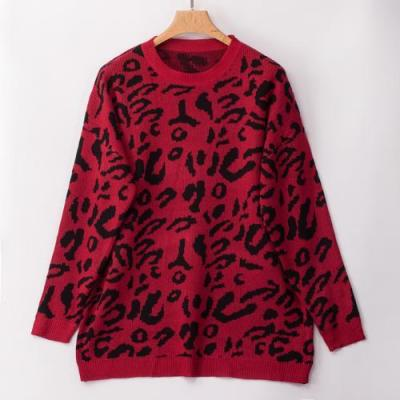 sweater women Full Sleeve Women Knitting Sweater  Round Neck Pullover Loose Sweater