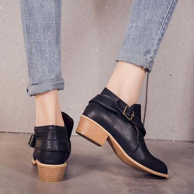 Women  Casual Outdoor Short High Heels Boots