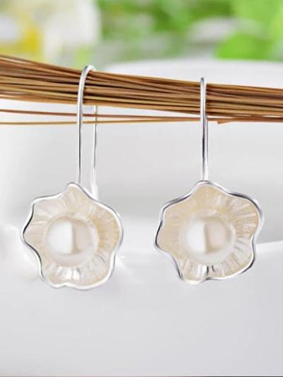 Lotus Pearl Fresh Earrings
