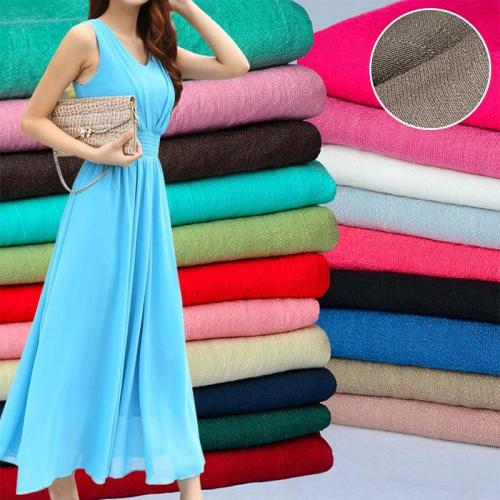 50x150cm Solid Color Soft Linen Slub Cotton Fabric DIY Dress Robes Clothing Handmade Patchwork Fabric