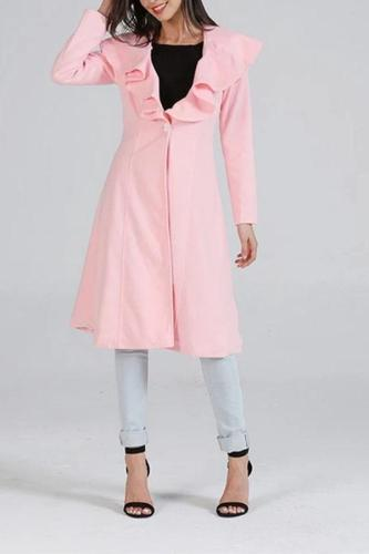 Fashion Falbala Long Thickening Coat
