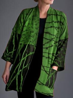 Plus size Printed Cotton Outerwear