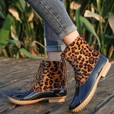 Date Pu Low Heel Boots