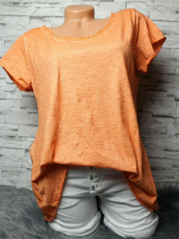 Casual Solid Shirts & Tops