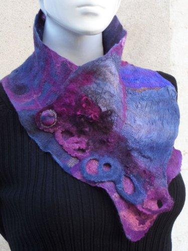 Purple Vintage Ombre/tie-Dye Scarves & Shawls
