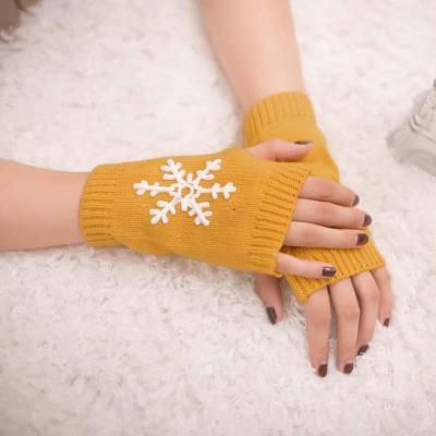 Women Fingerless Knitted Mittens & Gloves