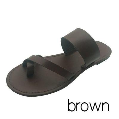 Women Pu Slippers Casual Flip Flops Beach Shoes