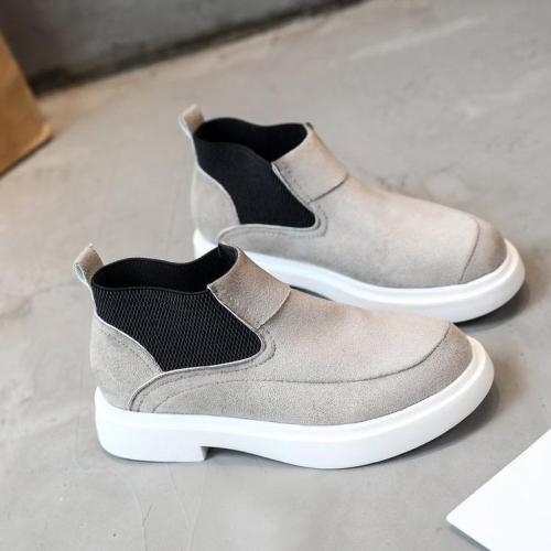 Slip-on Casual Suede Elastic Band Ankle Boots