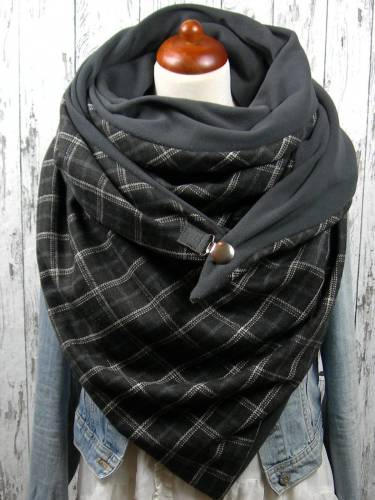Deep Grey Cotton Casual Floral Printed Scarves