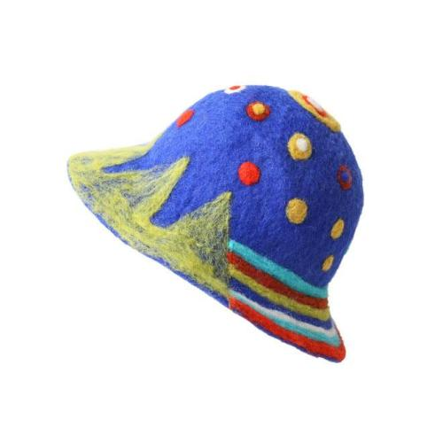 Wool Felt Starry Sky Hat Shoulder Bag