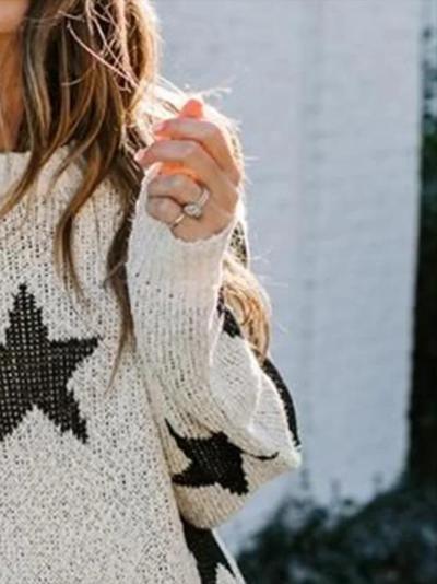 Long Sleeve Star Sweater
