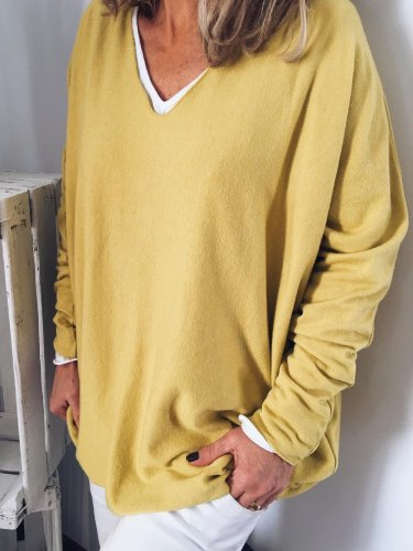 Yellow Long Sleeve Casual Shirts & Tops