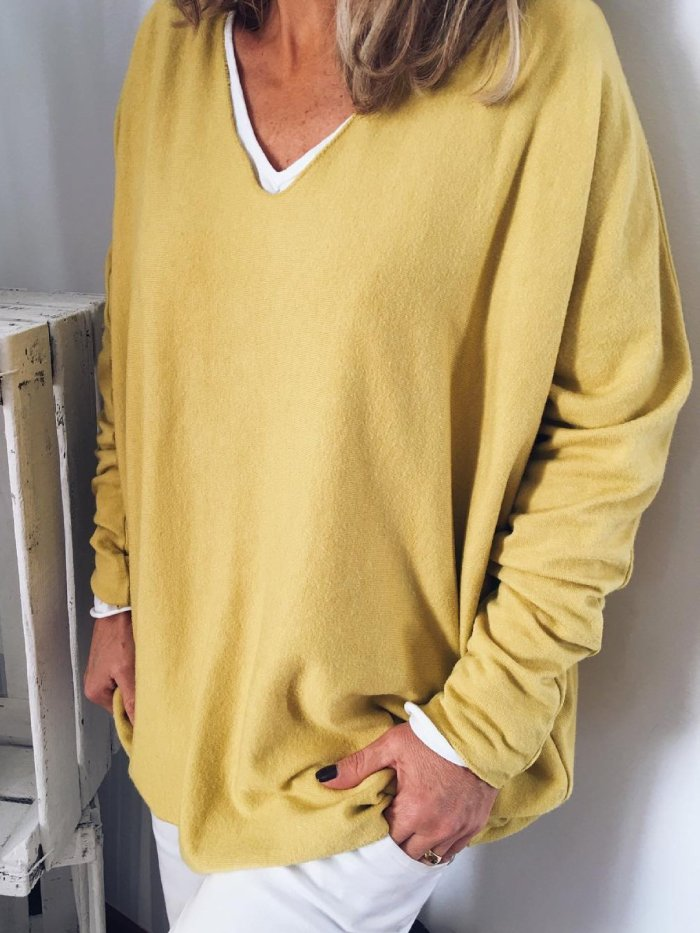Yellow Long Sleeve Casual Shirts & Tops
