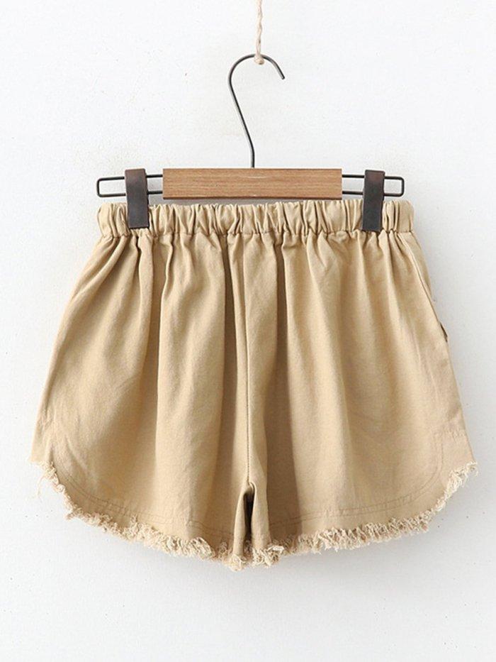 Summer Casual Pockets Cotton Pants