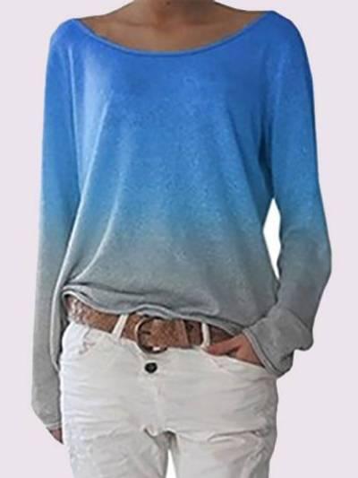 Color-Block Cotton-Blend Casual Shirts & Tops