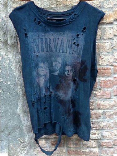 Brown Cotton Crew Neck Sleeveless Shirts & Tops