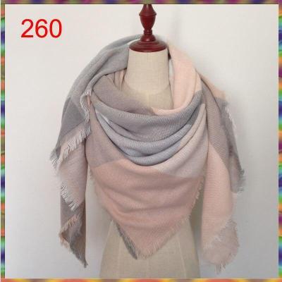 140x140cm square New Fashion Winter Plaid Scarf Women Warm Scarf Shawls Ladies Basic Scarves Pashmina Luxury