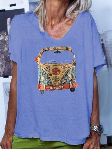 Short Sleeve Casual Printed Shirts & Tops