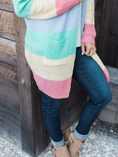 Long Sleeve Cotton Casual Cardigan