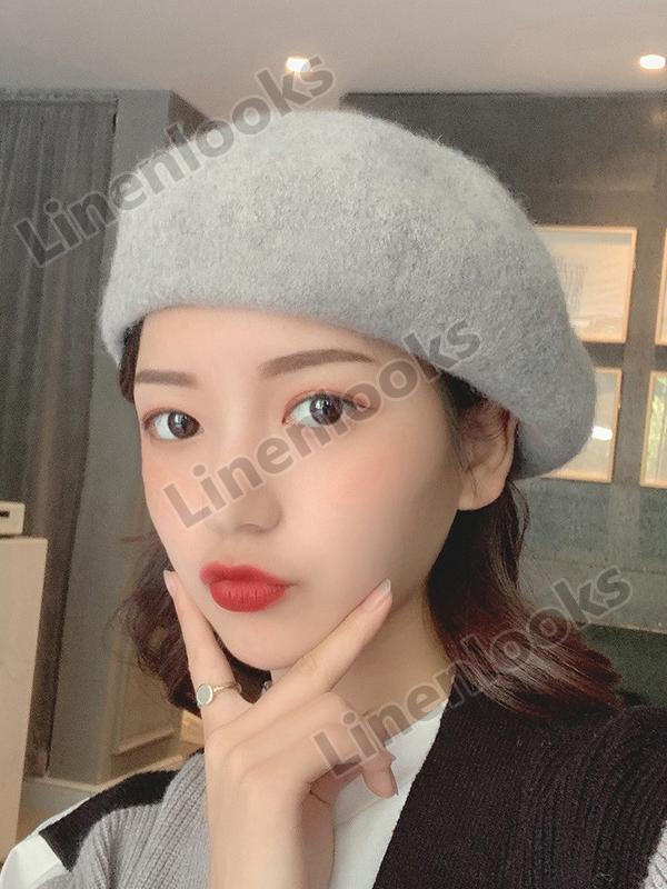 Fashion Soft Wool Beret Hats For Women Winter Autumn French Hat Girls Flat Caps