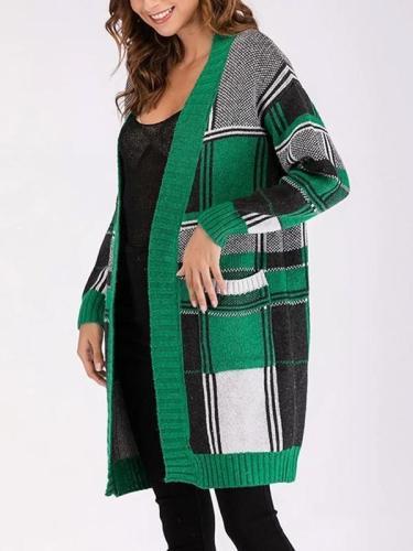 Knitted Long Sleeve Matching Slim Cardigan