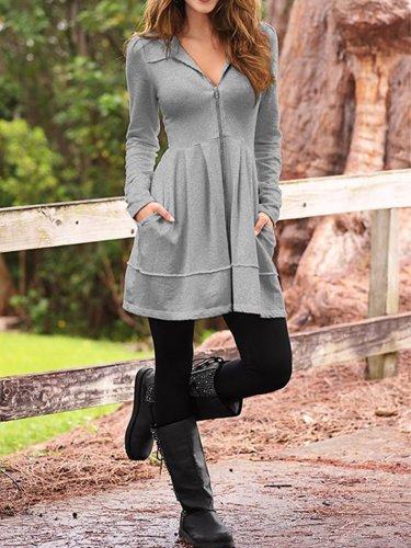 UK cotton plus size knit coat