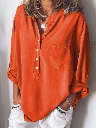 Spring\Summer Chiffon Blouses Long Sleeve
