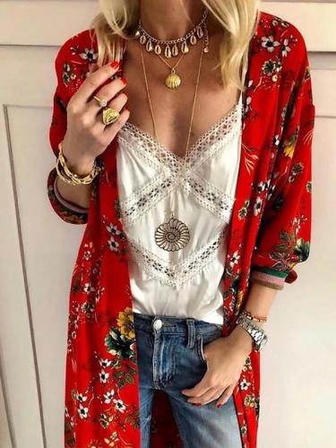 Flirt Printed Long Cardigan For Leisure