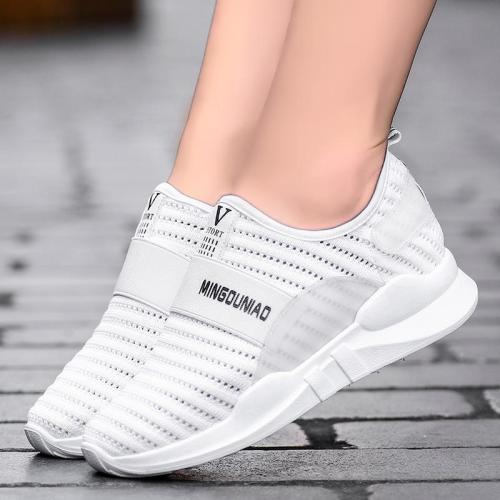 Women Mesh Fabric Sneakers Casual Sport Slip On Shoes