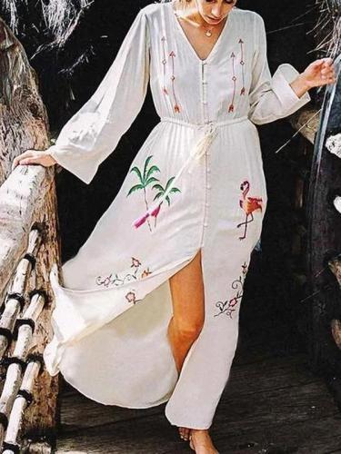 Fashion Inwrought Long Sleeve Cardigan Dresses