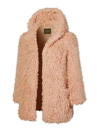 Women Faux Fur Fuzzy Fluffy Sherpa Coat Teddy Bear Coats With Hoodie