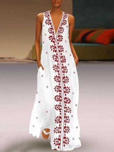 V Neck Women Summer Dresses Vintage Dresses