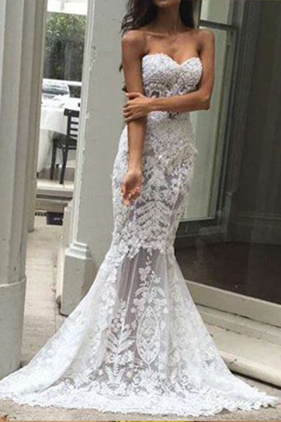 Fashion Off-Shoulder   Lace Sleeveless Evening Dress