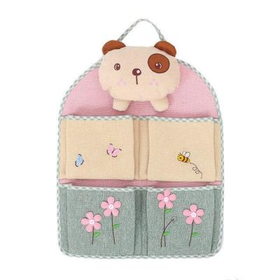 Cotton Linen Hanging Bag For Door Storage Pocket Sundries Wall Keys Holder Pouch Toy Organizer