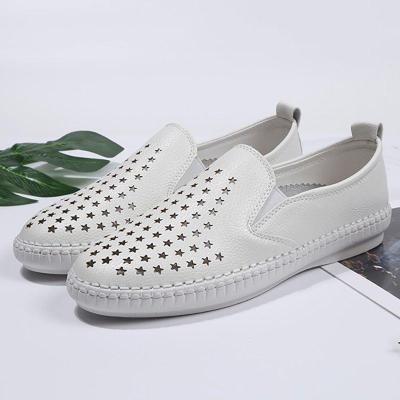 Women PU Loafers Flat Star Casual Comfort Plus Size Shoes