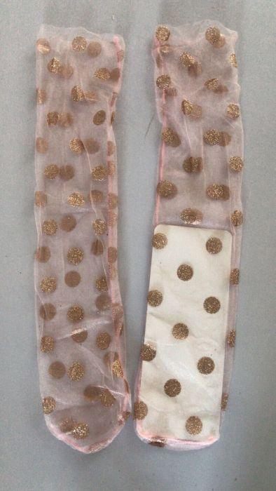 Spring New Shiny Polka Dot Fashion Mesh Transparent Pile Socks