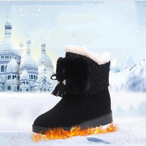 Women Winter Tassel Platform Boots