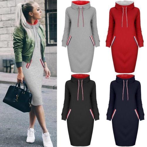 Winter Hot Style Multicolor High Collar Bottom Dress